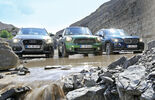 Audi Q3, BMW X1, Mini Countryman, Front view