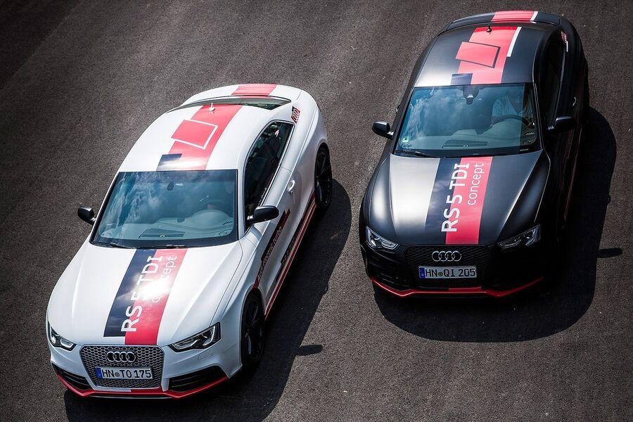 Чёрная и белая Audi RS5 Concept
