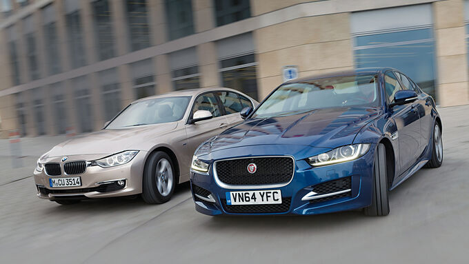 BMW 320d, Jaguar XE 20d, Front view