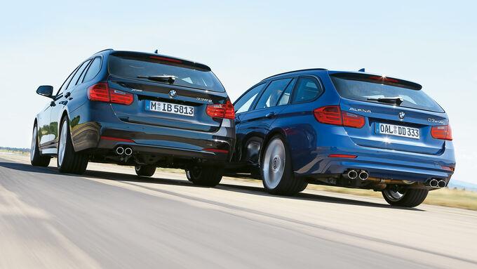 BMW 335d xDrive Touring, Alpina D3 Biturbo Touring Allrad, Heckansicht