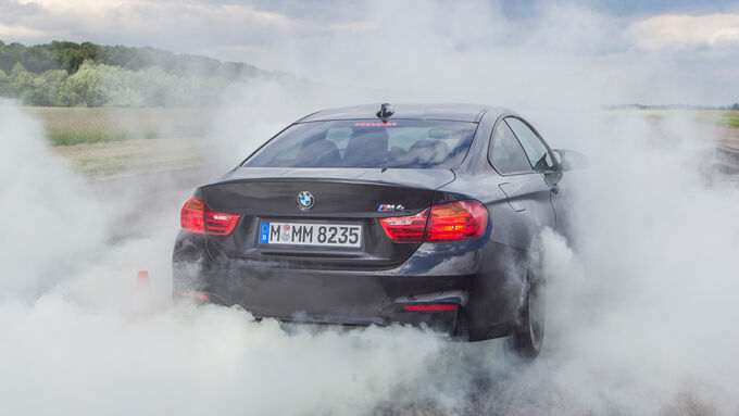 BMW M4, Burnout, Start