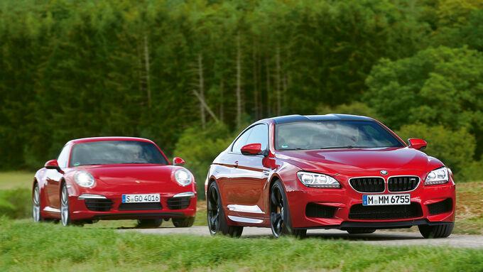BMW M6 Coupé, Porsche 911 Carrera, Frontansicht