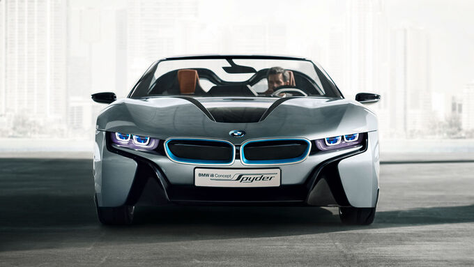 bmw i8 spyder in peking kosport unter freiem himmel. Black Bedroom Furniture Sets. Home Design Ideas