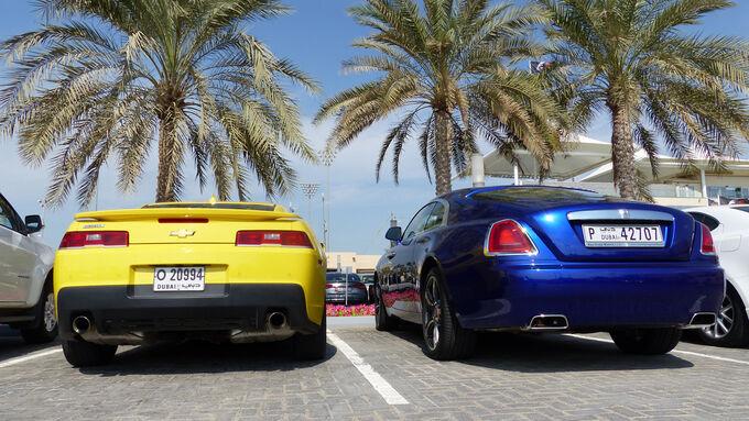 Chevrolet Camaro Rolls Royce Wraith - F1 Abu Dhabi 2014 - Carspotting