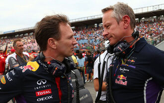 Christian Horner Jonathan Wheatley Red Bull 2014
