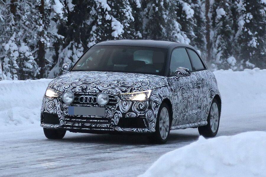 Erlkönig Audi A1 / S1 : 2014 kommen Facelift und Top-Version