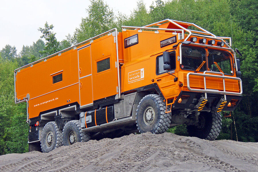 Orangework Expedition Vehicle Travel Taken To The Extreme