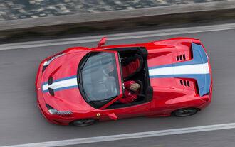 Ferrai 458 Speciale A, Plan view