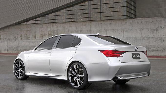 Lexus GS Hybrid, Seitenansicht, Bremslicht, Seite