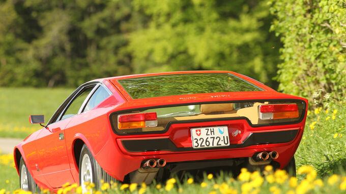 Maserati Khamsin, Heckansicht