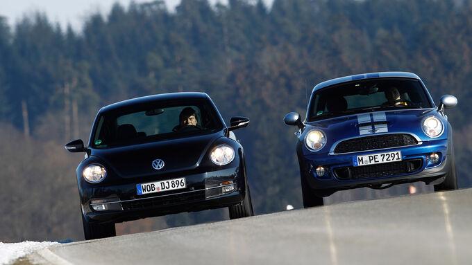 Mini Cooper S Coupé, VW Beetle Sport