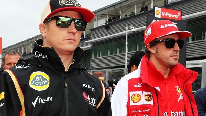 Räikkönen  Alonso - GP Belgien 2013