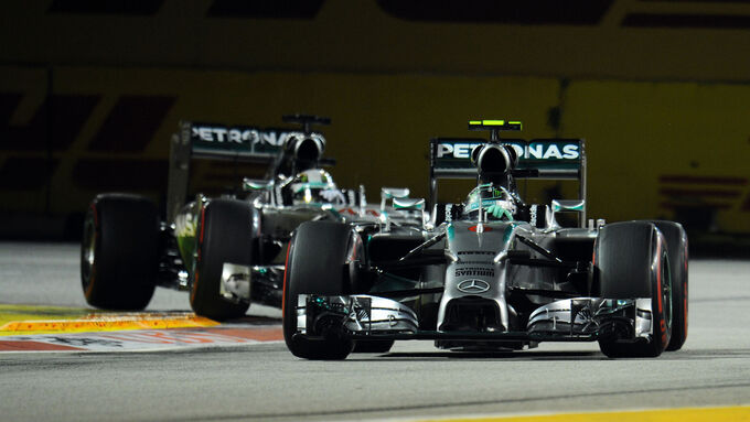 Rosberg Hamilton - Mercedes - Formel 1 - GP Singapur - 20. September 2014