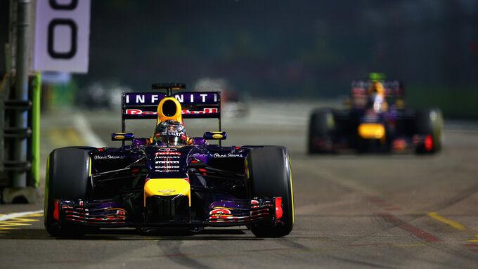 Vettel knapp vor Ricciardo