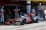 Sergio Perez McLaren GP Spanien 2013 Burnout