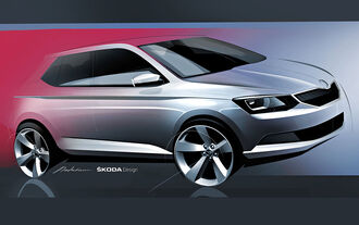 Skoda Fabia Designsketch