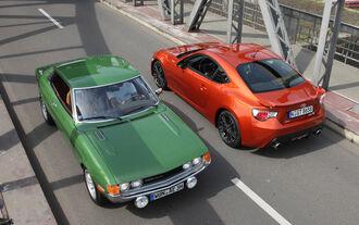 Toyota GT 86, Toyota Celica, Seitenansicht