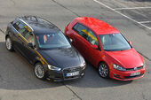 VW Golf GTI 2.0 TDI, Audi A3 Sportback 2.0 TDI, Seitenansicht