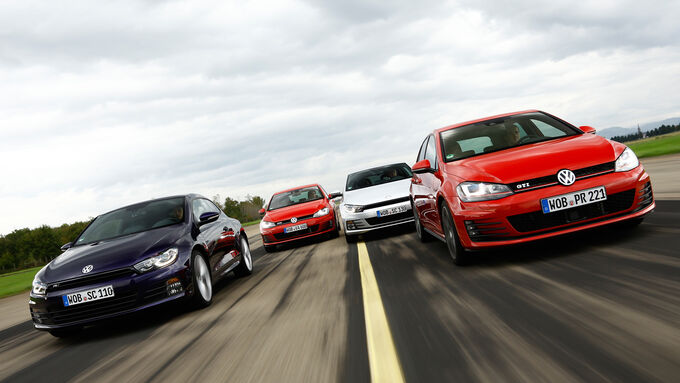 VW Golf GTI vs. GTD and Scirocco TSI vs.TDI